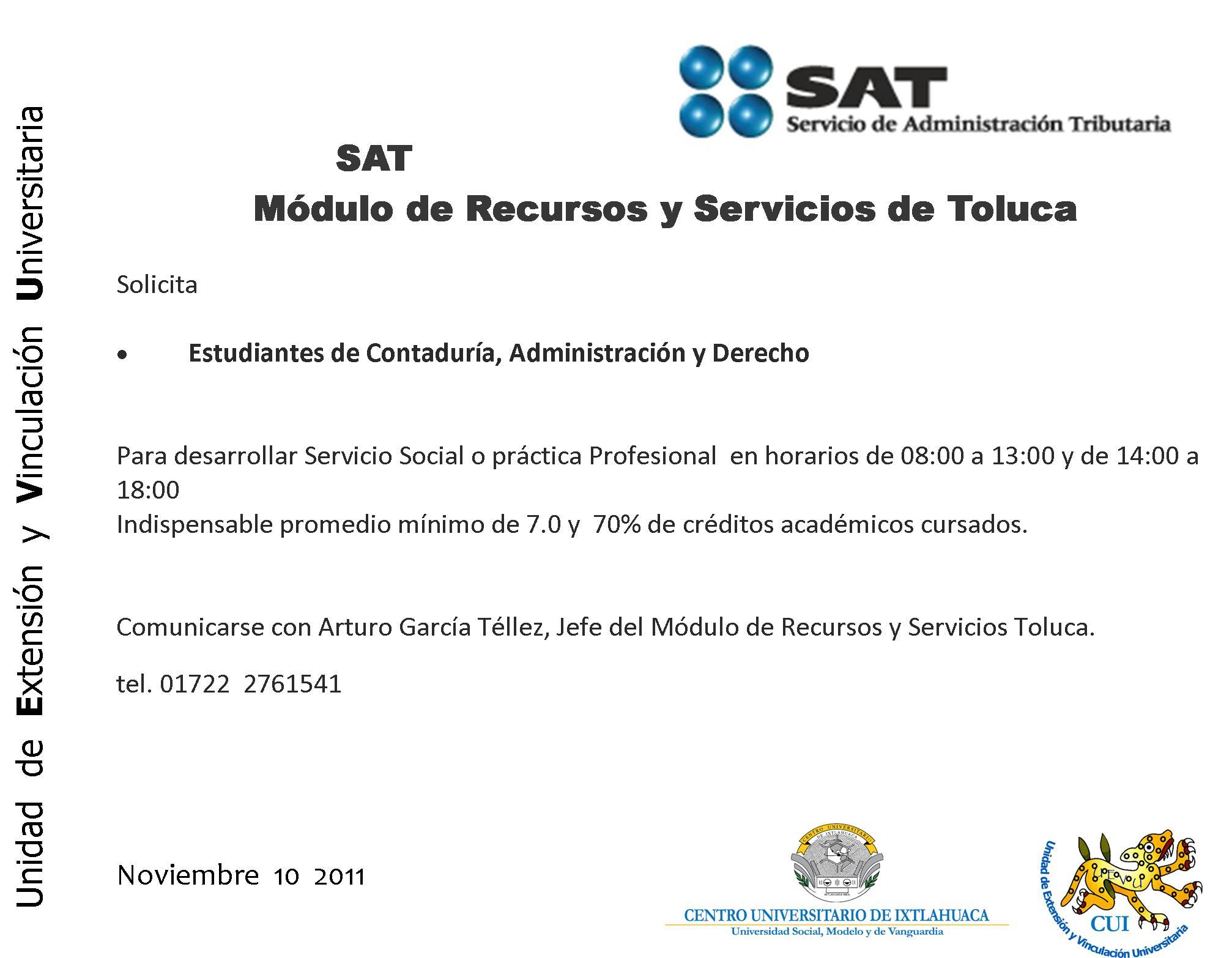 Sat 2011 Nov Dirección De Extensión Y Vinculación