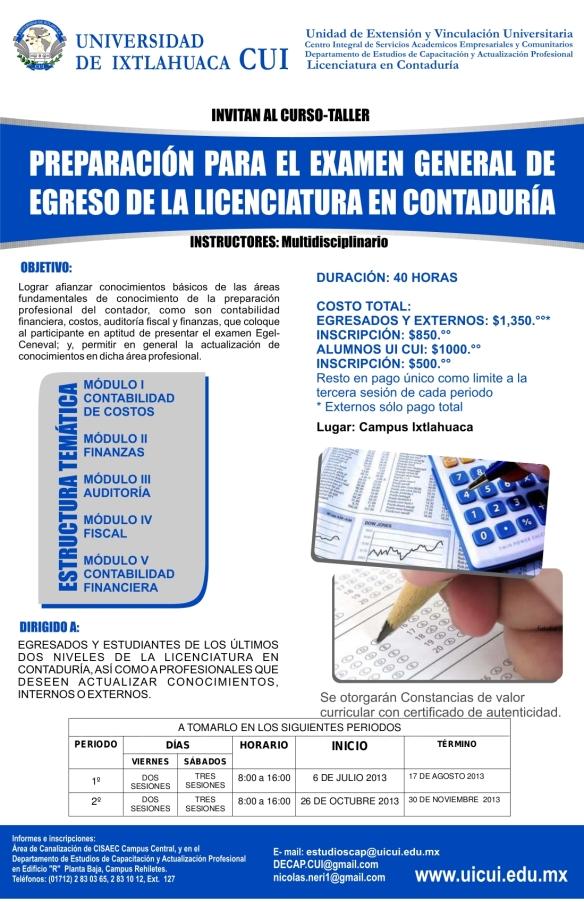CartelPreparacion Examen Conta 14mayo2013