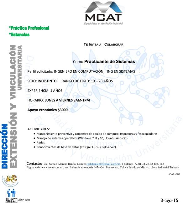 MCAT PR SISTEMAS
