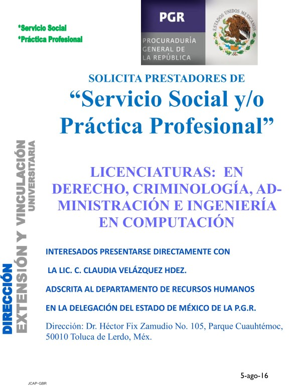 VACANTES SS Y PP PGR