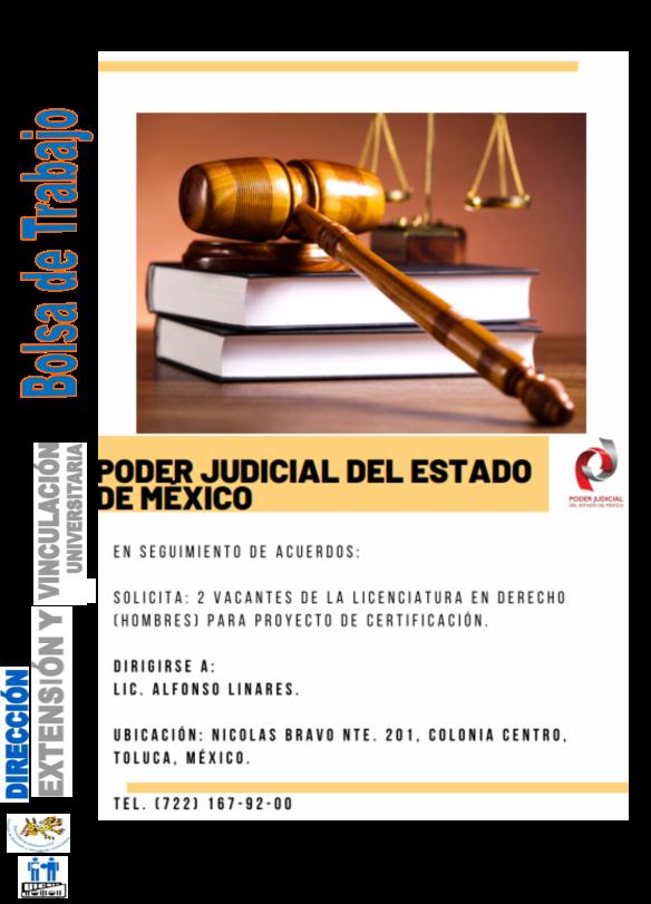 Vacante de derecho para PJEM