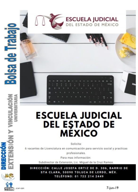 Vacante para Escuela Judicial del Edo. de México